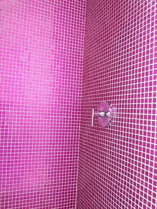 PINK Shower Get This Look With Fuchsia Pink Glitter Tile Amazing For A Girls