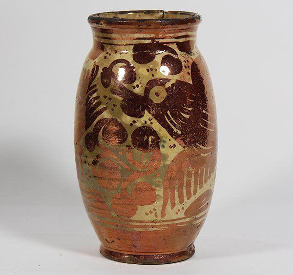 Spanish Hispano Moresque Manises Ceramic Vase 18th On Tasty