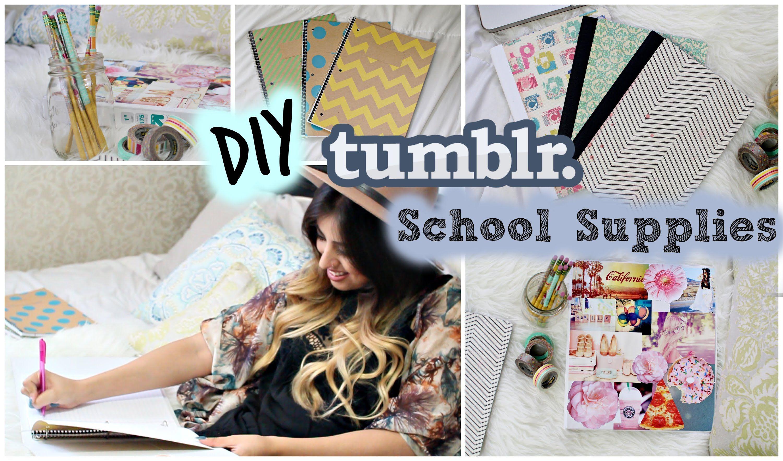 Back To School DIY Tumblr School Supplies Sooooooww Cute - Cute diy school locker ideas