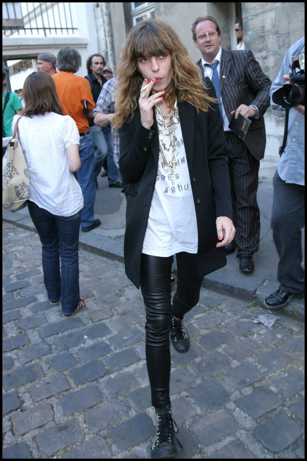 Lou Doillon. I shamelessly stole her hair. Resisting the urge to also raid her wardrobe.