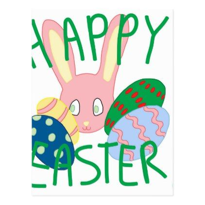 Easter Bunny  Postcard  Holiday Card Diy Personalize Design