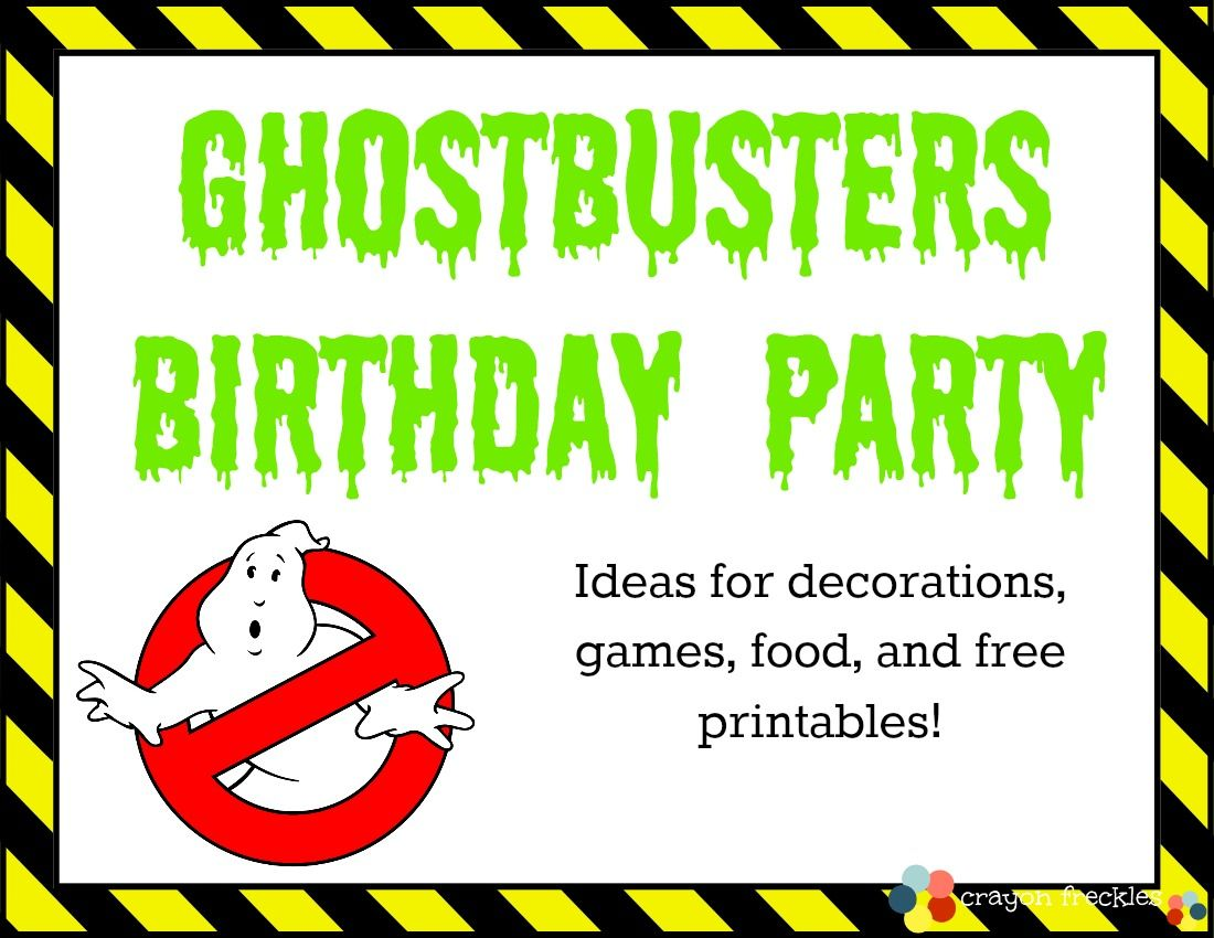 ghostbuster party tons of free printables sprout u0027s
