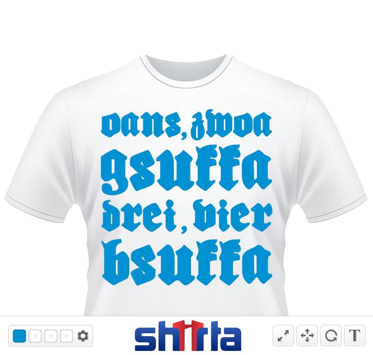 """Lustiges Sprüche Shirt """"Oans, zwoa, gsuffa, drei, vier bsuffa"""" für das Oktoberfest oder die Wiesn, Party oder Volksfeste"""