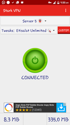 Etisalat Unlimited Free Browsing Blazing With Stark VPN V3 4