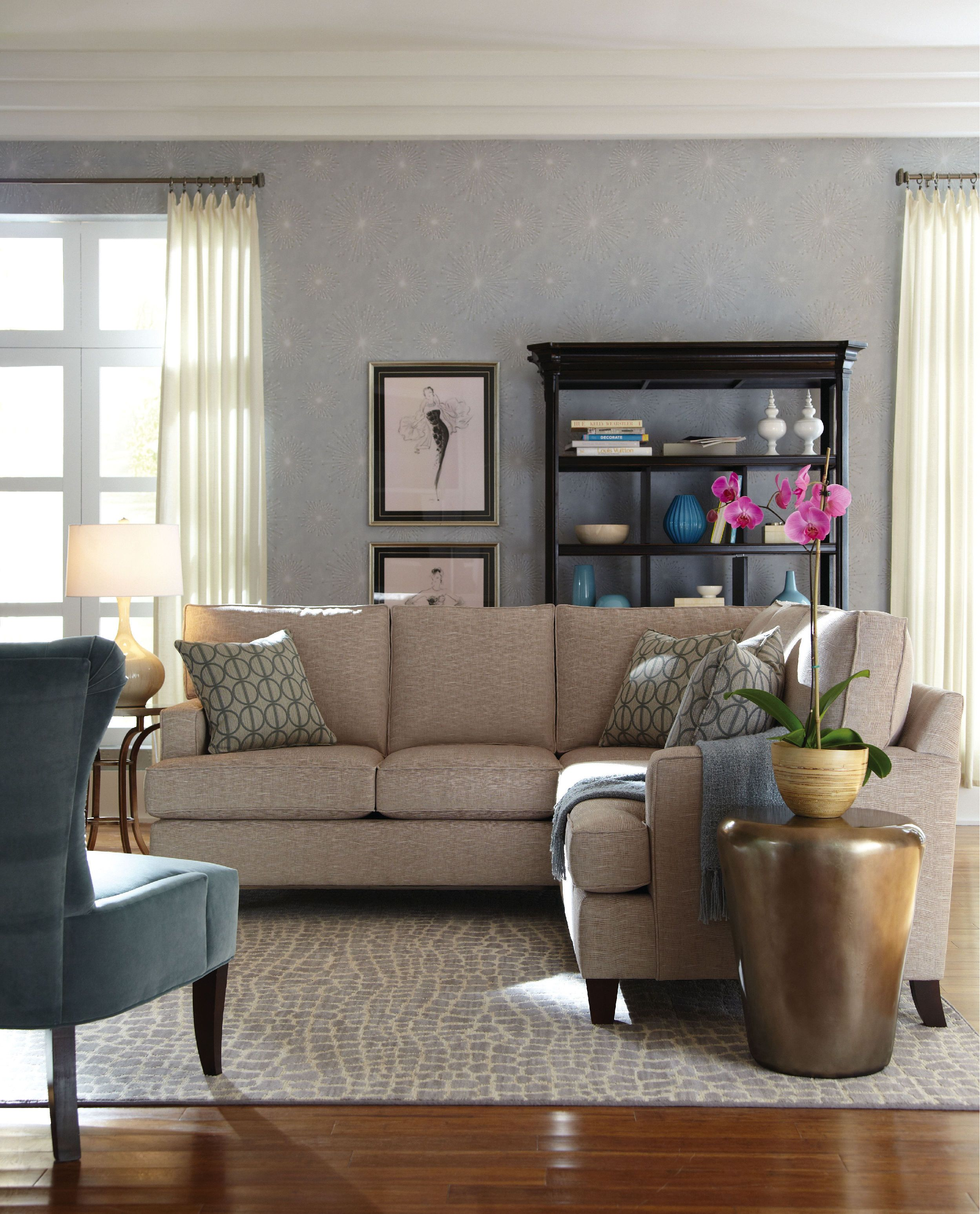 Hgtv Home Living Room 3 Piece Sectional 2546 Lsect2 Furniture Showcase Stillwater Ok