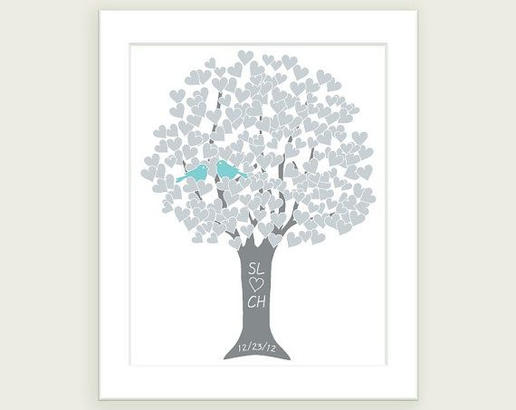 Silver Wedding Anniversary Gifts For Parents: Silver 25th Anniversary Gift For Couple Love Tree Art