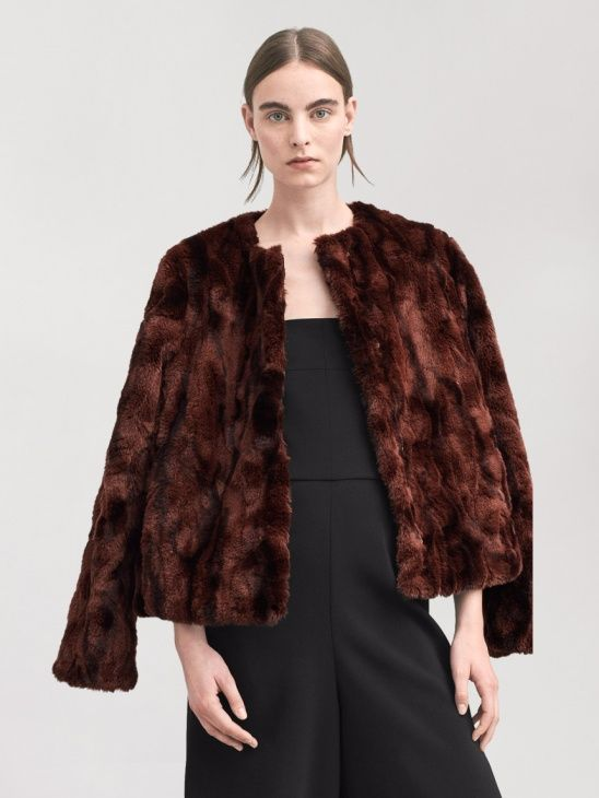 jackor dam vinter fake fur