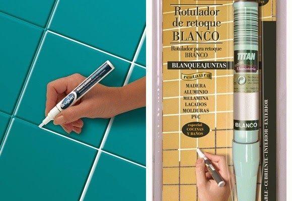 Como Pintar Azulejos Baño | Marcador Para Azulejos Casa Pintura Pinterest Banheiros