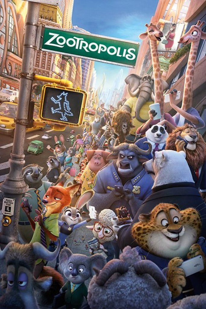 Zootropolis One Sheet - Official Poster. Official Merchandise. Size: 61cm x 91.5cm. FREE SHIPPING