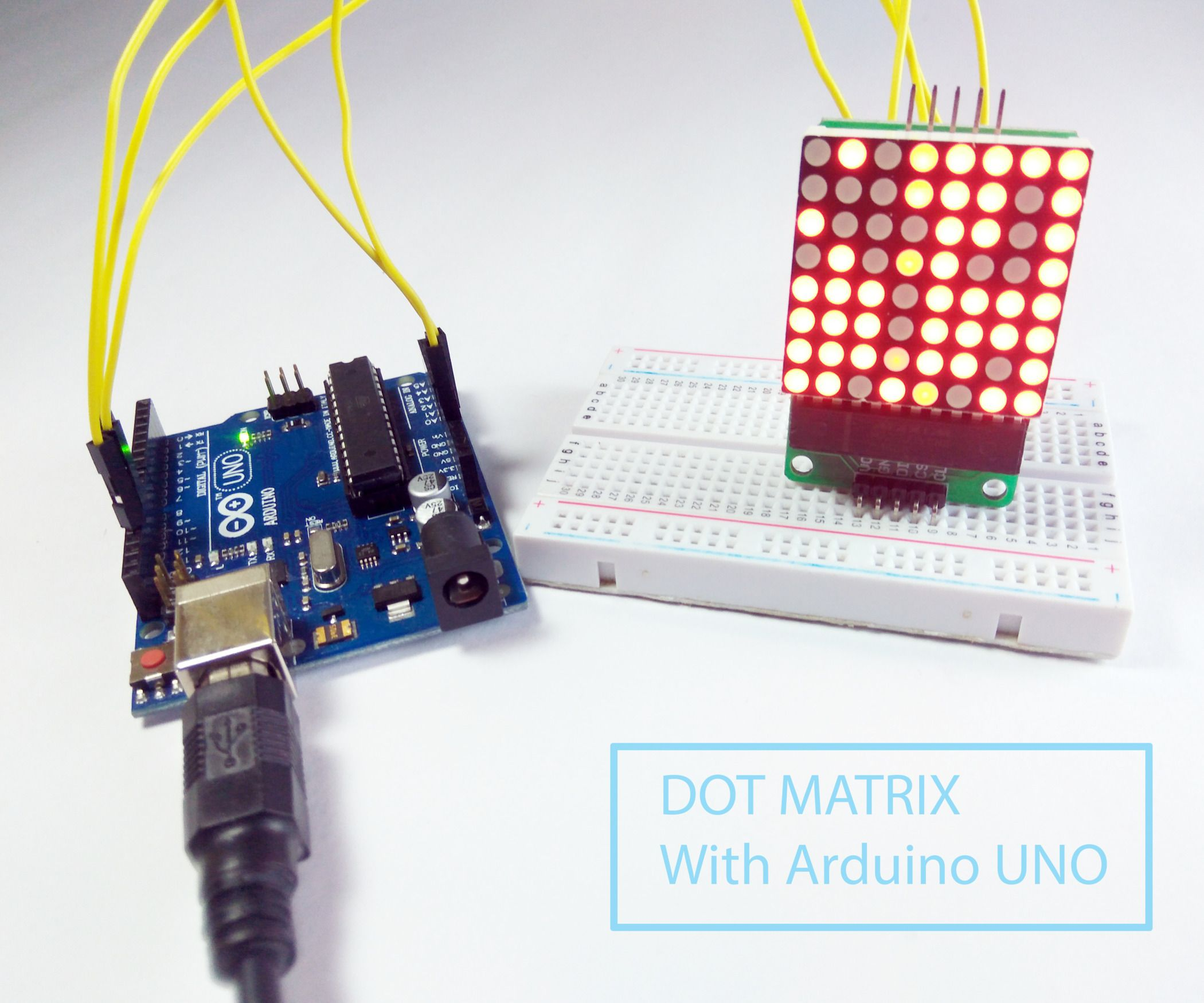Dot Matrix With Max7219 Interfacing With Arduino Arduino Matrix Interfacing