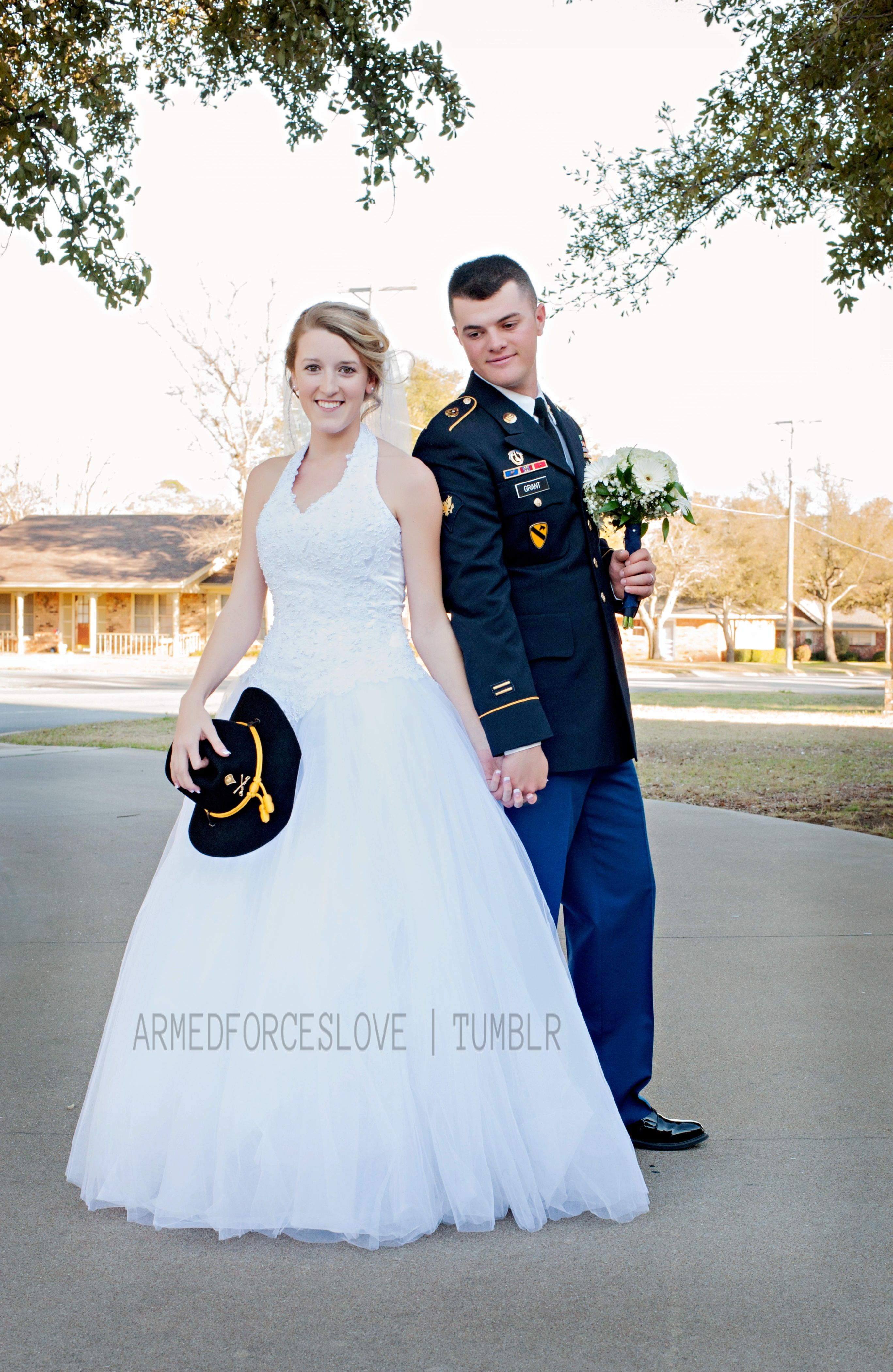 Military Army Wedding My Husband And I After Our Ceremony But Before The Reception