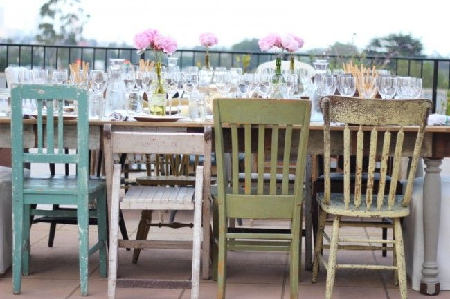 Colorful Shabby Chairs