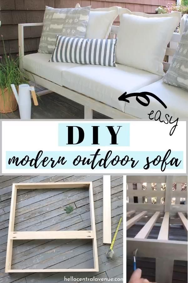 Photo of Easy DIY Modern Outdoor Sofa