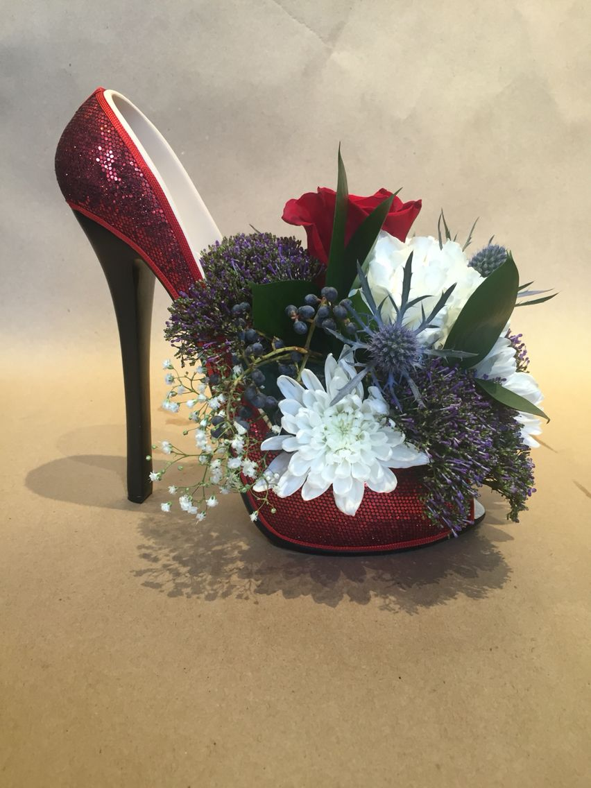 New Years Eve Party 2016, High Heel Flower Arrangement