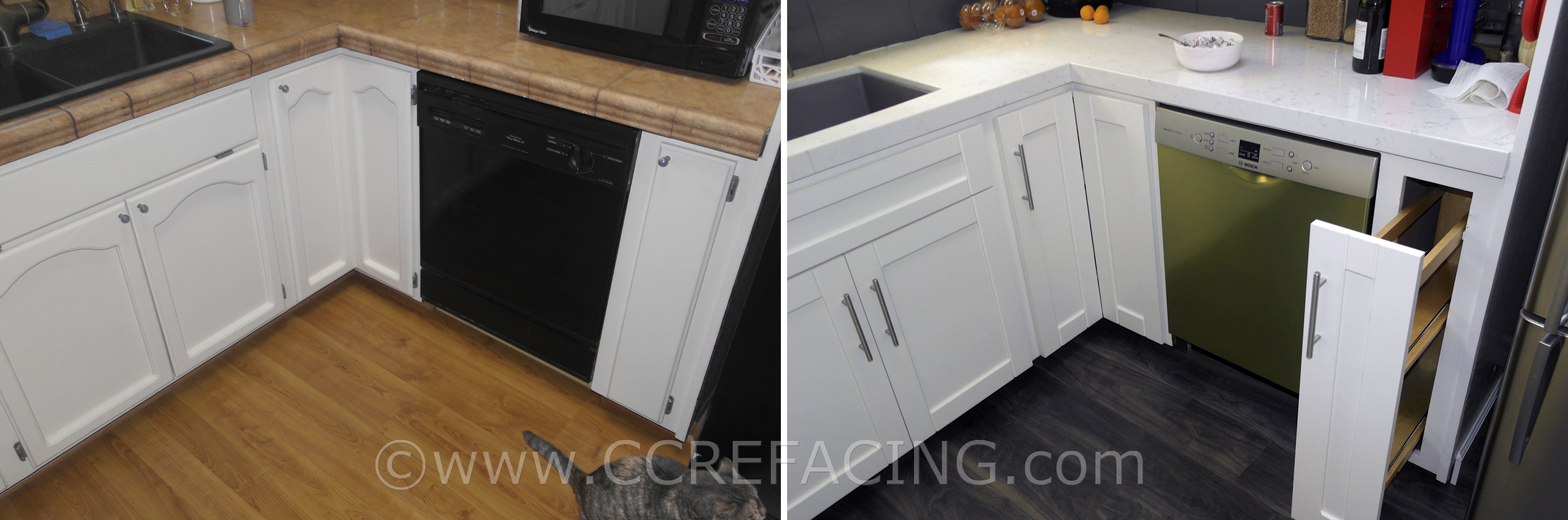 San Leandro Reface Refacing With White Shaker Cabinet Doors White Shaker Cabinets Shaker Cabinet Doors Cabinet Refacing