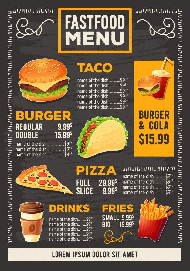 Fast Food Vectors Photos And Psd Files  Free Download  Leaf And