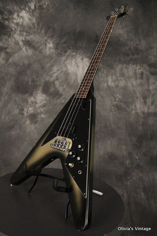 1981 gibson flying v bass original silverburst vintage bass guitars pinterest bass. Black Bedroom Furniture Sets. Home Design Ideas