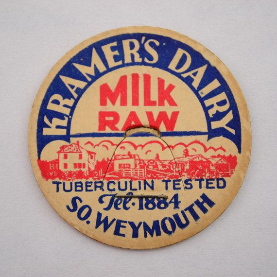 For your consideration one Kramer's Dairy Milk Cap South Weymouth, Massachusetts, Bottle Cap Lid in the condition shown in the photos.   Upon cleared payment, your order wi... #collectibles #advertising