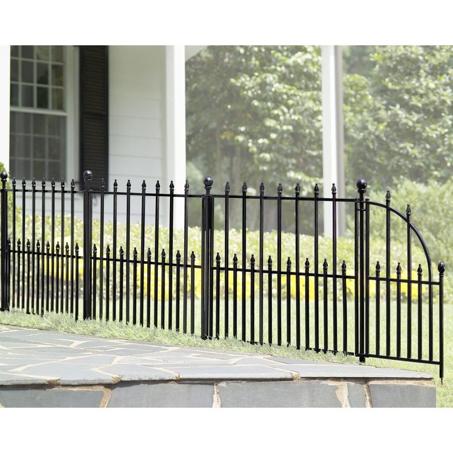 Shop No Dig Powder-Coated Steel Fence Panel (Common: 29-in x 38-in ...