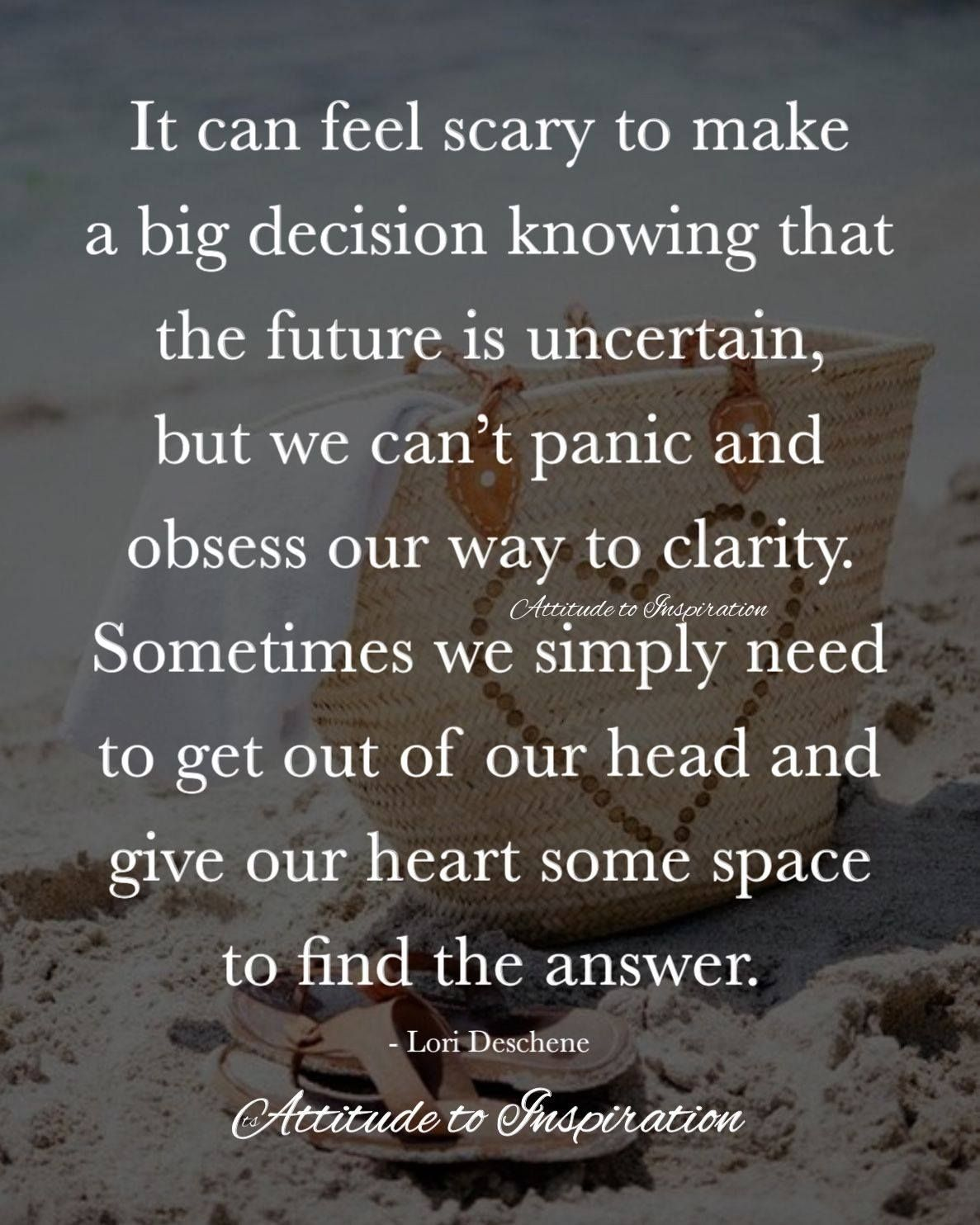 How To Make A Life Changing Decision
