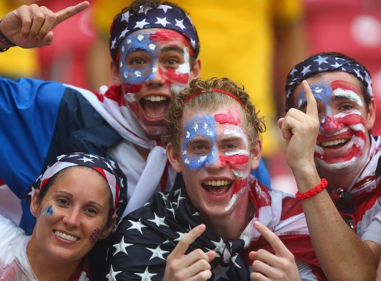 These Usa World Cup Fans Are Super Passionate About Their Patriotic Attire Bustle Usa World Cup World Cup World Cup Groups