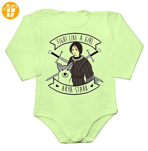 Fight Like Arya Stark Baby Long Sleeve Romper Bodysuit XX-Large - Baby bodys baby einteiler baby stampler (*Partner-Link)