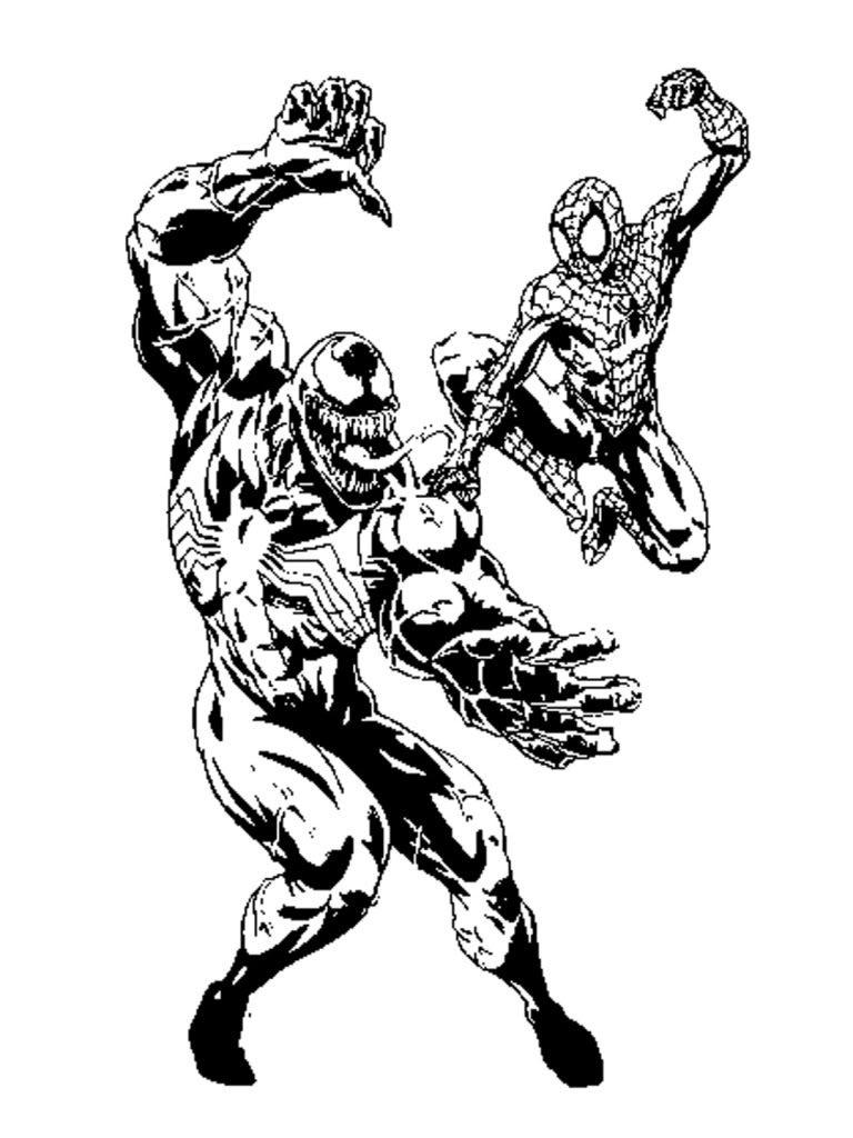Venom Spiderman Coloring Pages Print