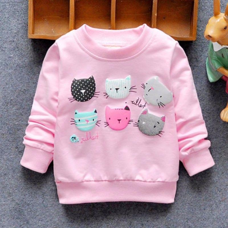 0c40e8912 Baby Kids Autum Hoodies Cartoon Cat Long Sleeve Pull Top Jacket ...