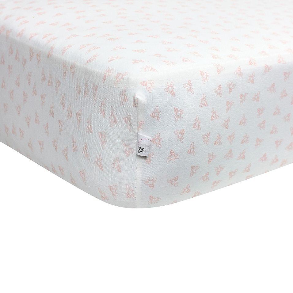 Burt S Bees Baby Honeybee 100 Organic Cotton Fitted Crib Sheet In