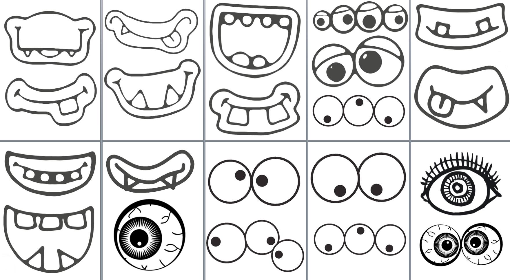 Bocas y ojos. Monster   MONSTRES   Pinterest   Boquilla, Ojos y Ciencia