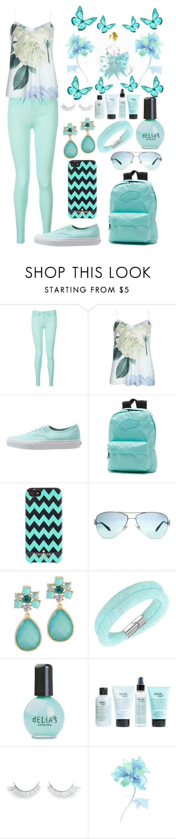 """Good Morning"" by fashstyle16 ❤ liked on Polyvore featuring Tommy Hilfiger, Ted Baker, Vans, Kate Spade, Tiffany & Co., Swarovski, philosophy and Napoleon Perdis"