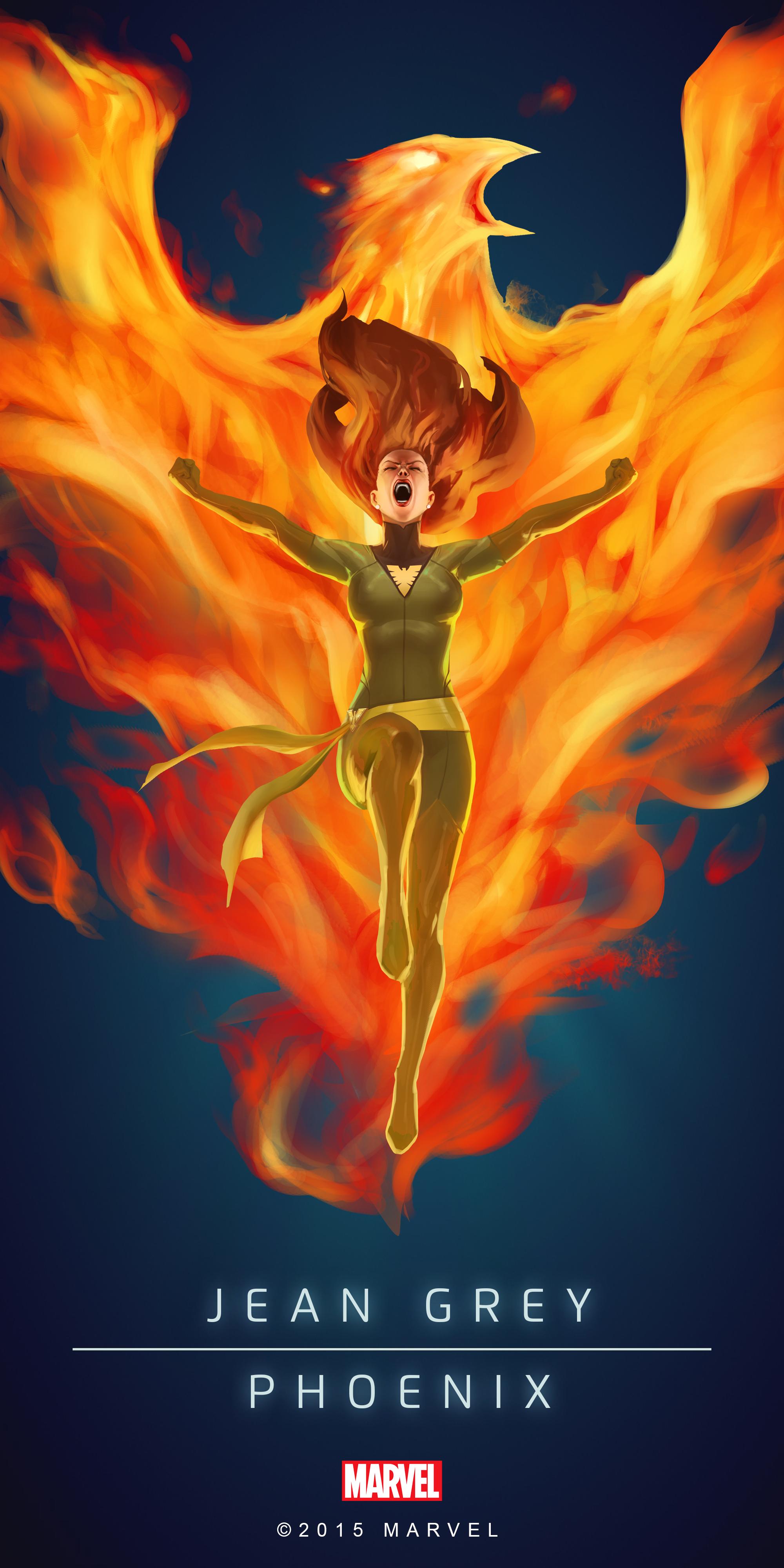 Jean_Grey_Phoenix_Poster_02.png (2000×3997) Marvel