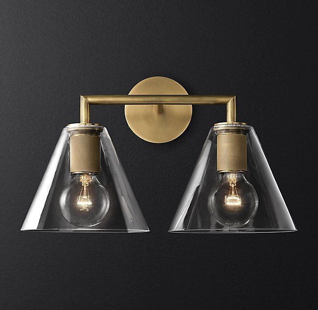 Utilitaire Funnel Shade Double Sconce In 2019 Lighting For