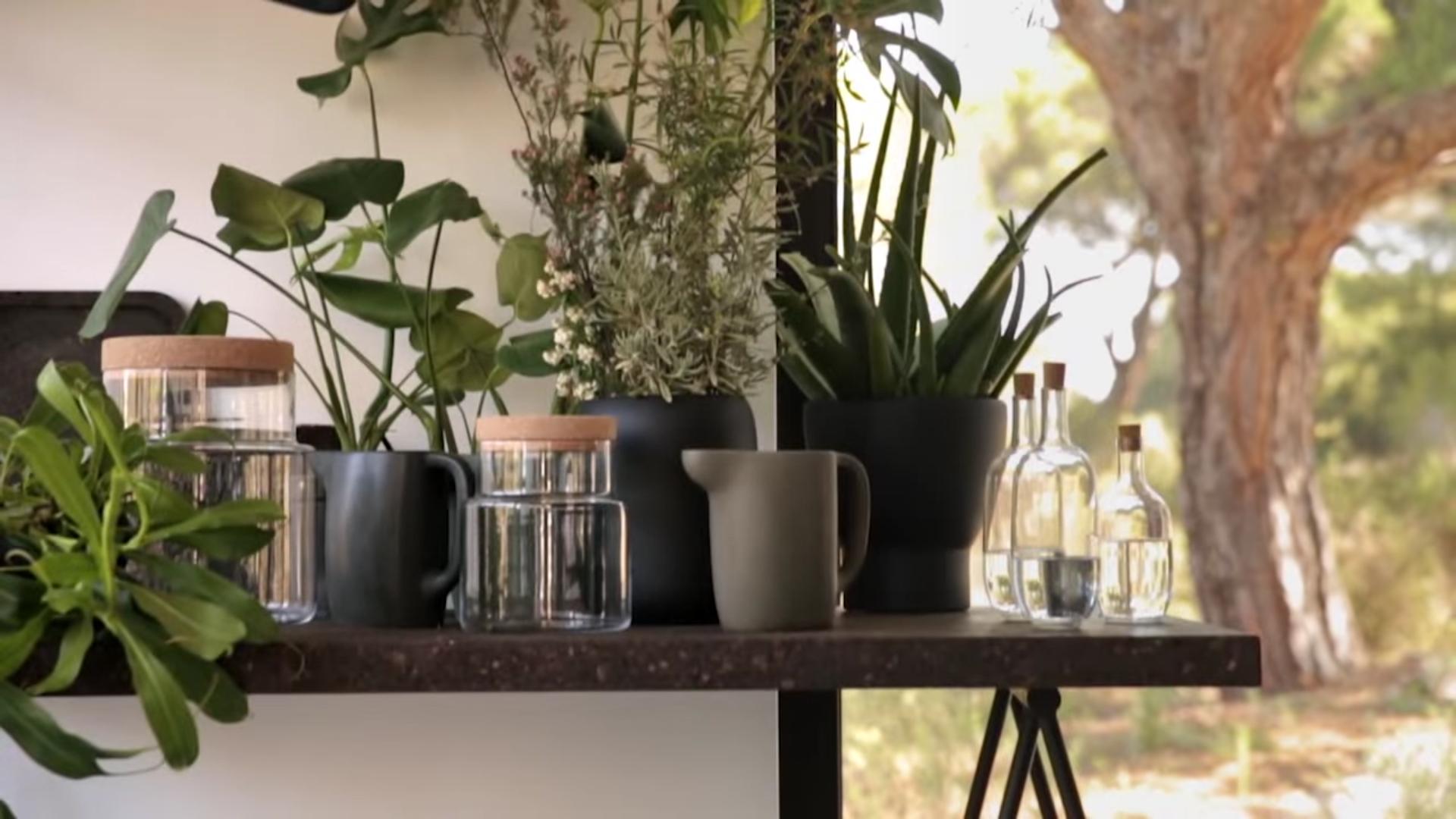 Ikea Sinnerlig Pots and Jars, made of cork
