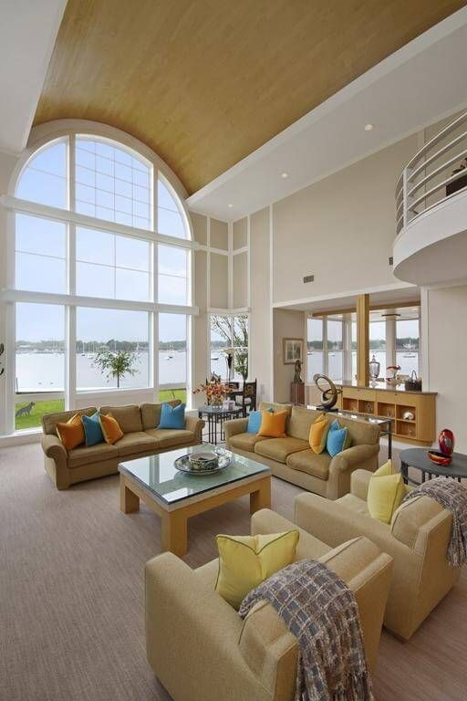 201 Family Room Design Ideas For 2017  Natural Wood Coffee Table Glamorous Big Living Room Designs Decorating Design