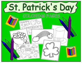 Coloring+Pages-St.+Patrick's+DaySet+of+6+St.+Patrick's+Day+Coloring+PagesYou+may+print+and+distribute+as+many+copies+of+these+coloring+pages+as+you+need+for+classroom+and+personal+use+:)Thanks+for+looking,+and+have+a+great+day!Copyright+2016+PurpleBeeClassroom+