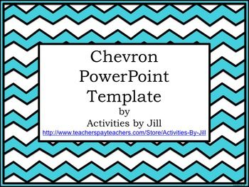 Chevron PowerPoint Template | School, Math and Teaching supplies