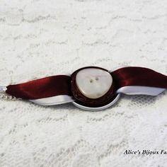 Bracelet nespresso ruban argent et bordeaux