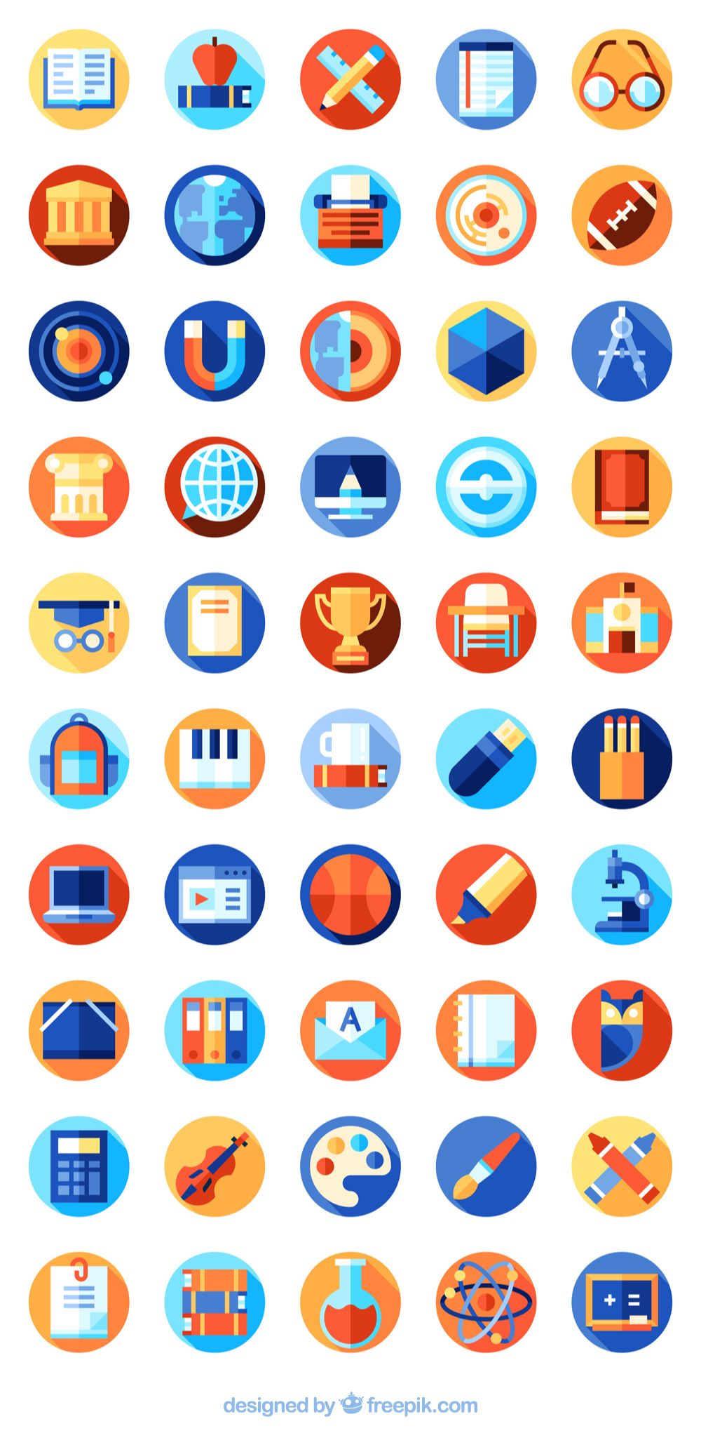 50 premium vector icons of Education Icons designed by