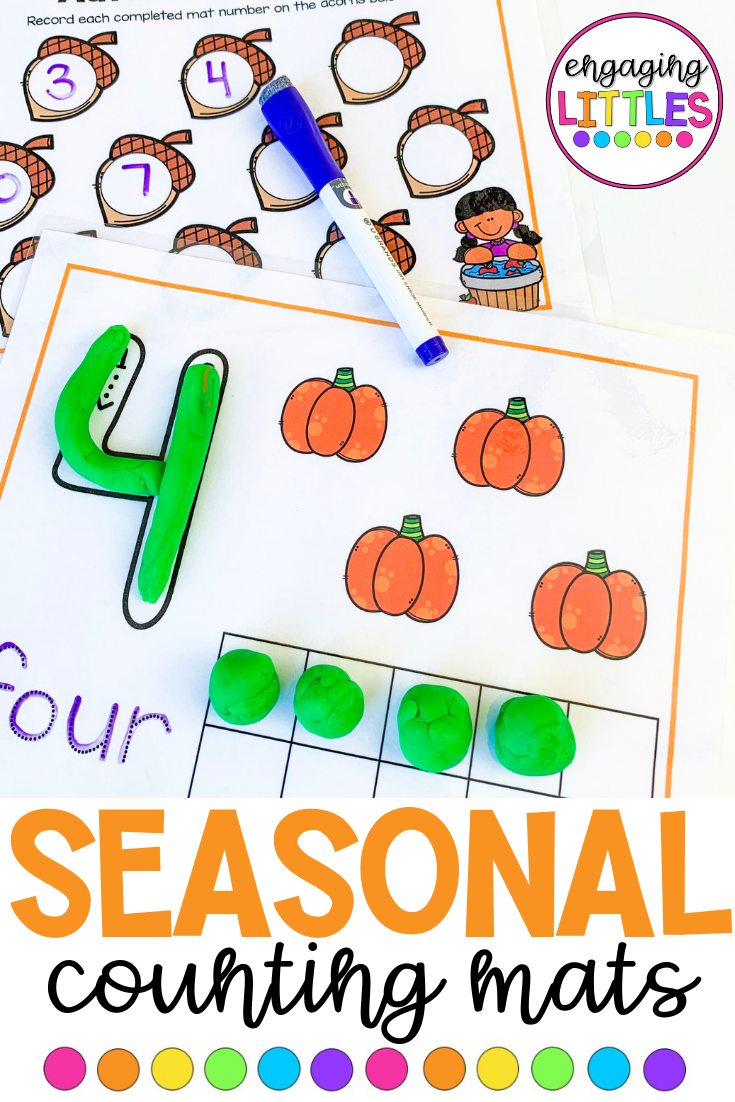 Seasonal Counting Mats Math Graphic Organizers Math Numbers Math Number Sense
