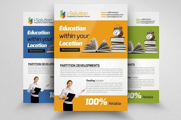 Education Flyer Template By Business Flyers On Creativemarket