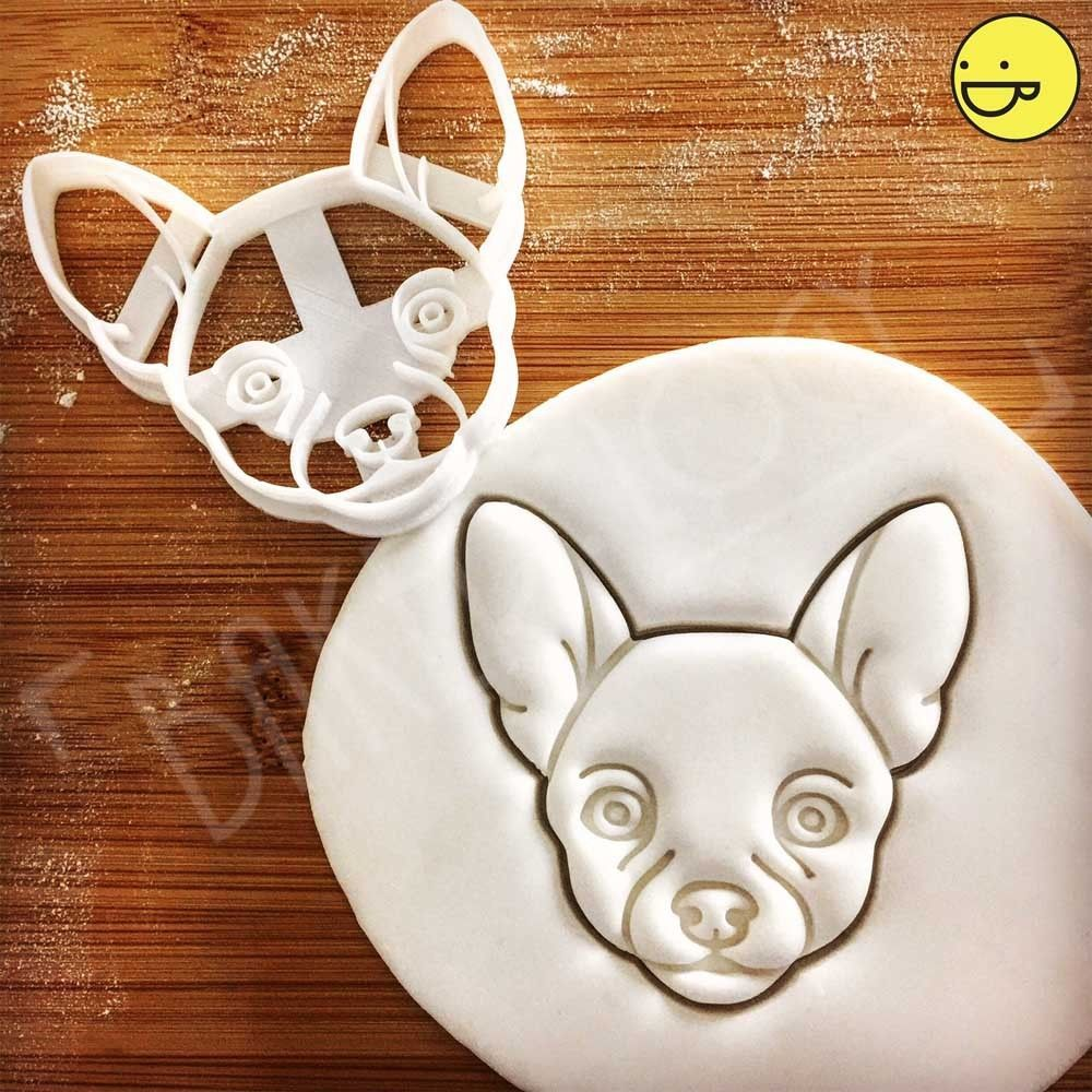 Details About Chihuahua Face Cookie Cutter Doggy Treat Animal