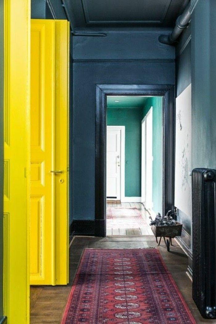 100 Interieur Ideen Mit Grellen Wandfarben! | Wohnideen | Pinterest |  Wandfarbe, Farben Und Gelbe Türen