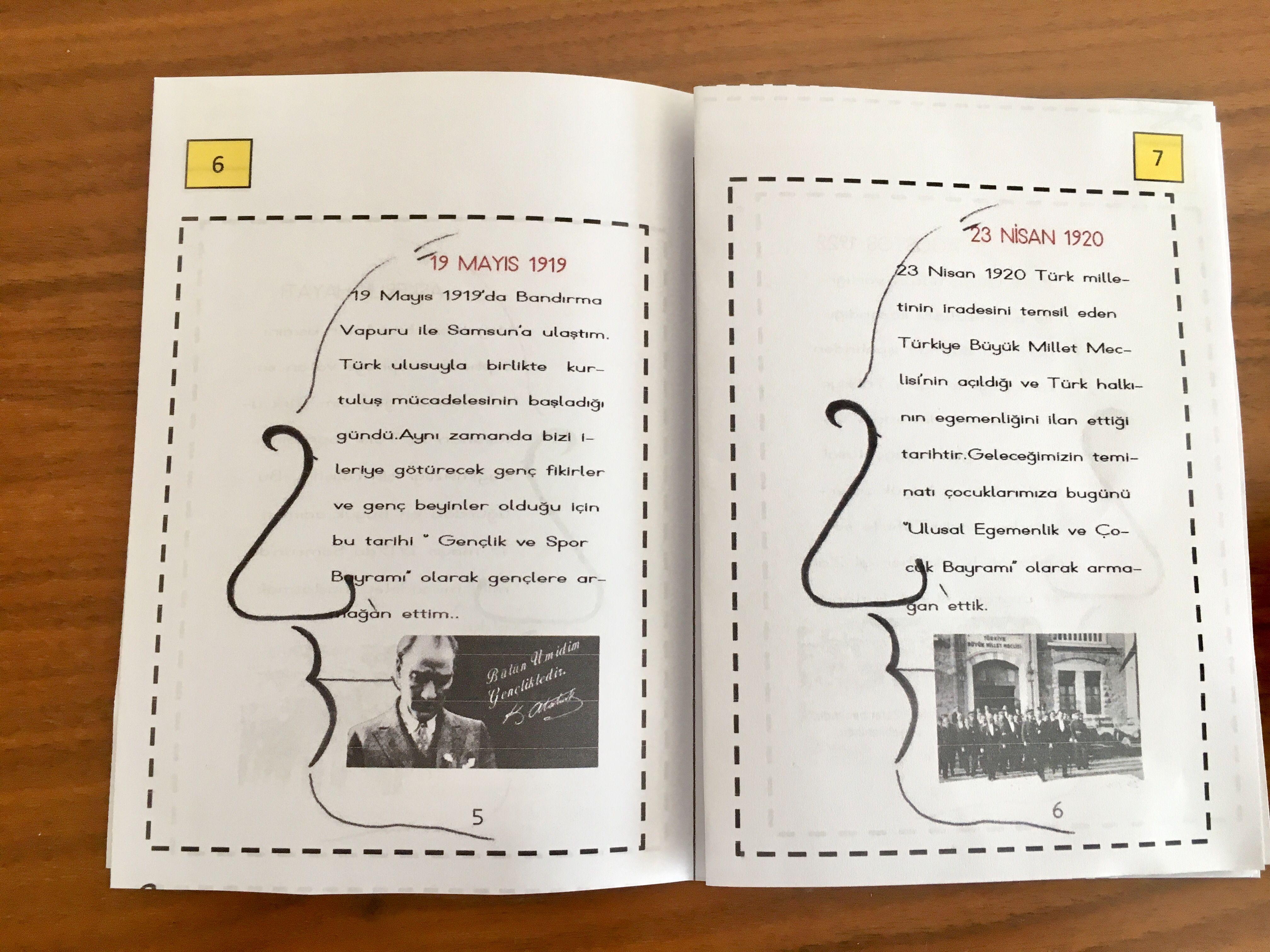 10 Kasim Ataturk Un Hayati Kitapcik Cigdem Ogretmen Hayat Bilgisi Egitim Sinif