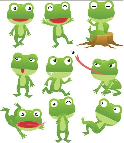Cartoon Frogs Free Vector Cartoons Vector Free Download