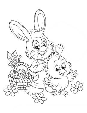 Ausmalbild Osterhase Mit Kuken Kostenlose Ausmalbilder Osterhase Ausmalbilder Ostern