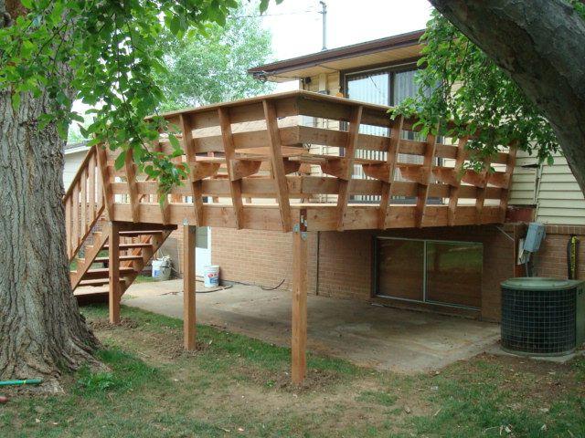 Deck Railing Bench Ideas