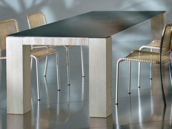 Tavolo Gervasoni ~ Tavolo da pranzo rettangolare metal collezione metal by