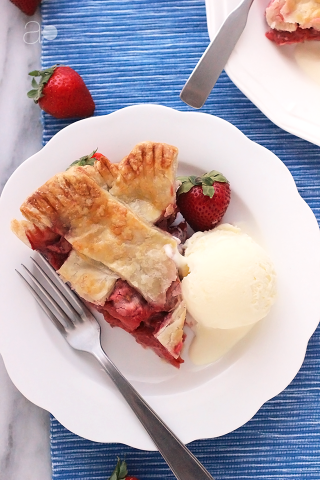 Strawberry Pie- you can't have celebrate Independence Day without a slice of homemade pie!