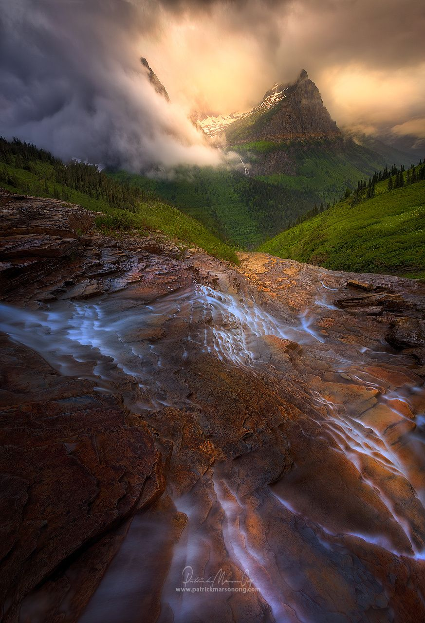 Moodyscape, Glacier National Park USA - www.patrickmarsonong.com  I have had the pleasure of spending two weeks…
